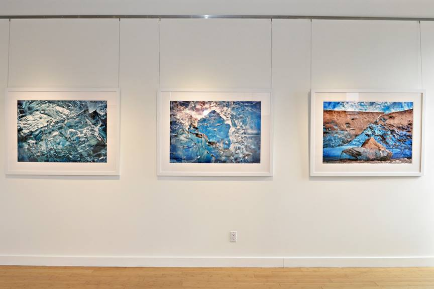 Michelle Valberg's Arctic Ice Collection from her September exhibition Freedom is currently on display