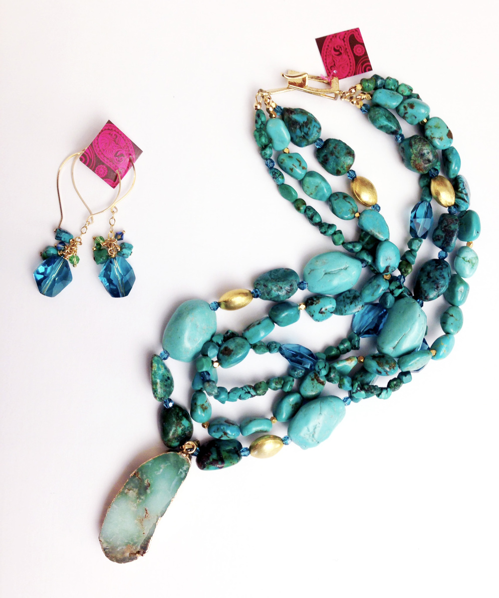 Earring and Necklace pairing by Jeannie Polisuk (Young Designs)