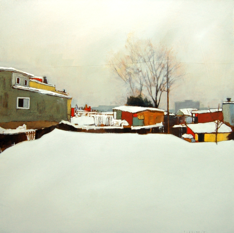 David Lidbetter, Eddy Street, Oil on Canvas