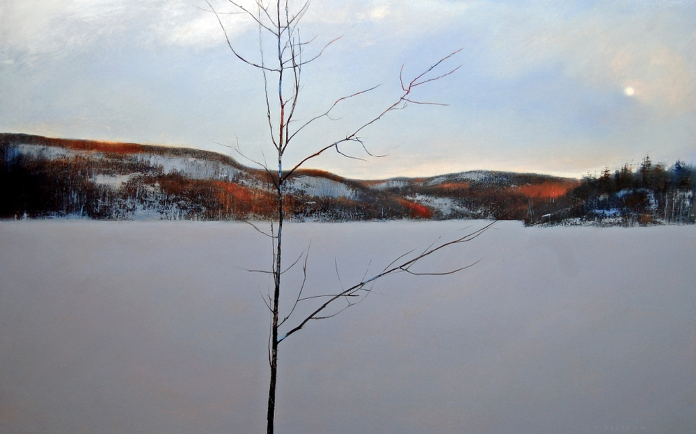 David Lidbetter, Morning - Gatineau River, Oil on canvas