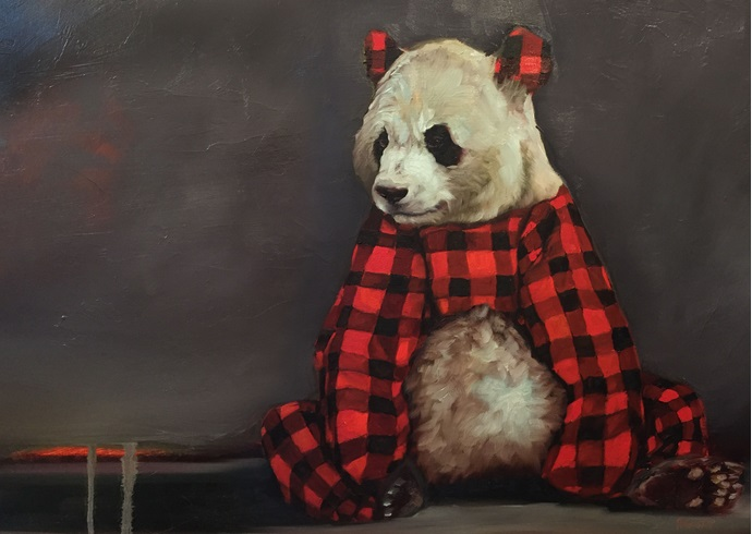 Richard Ahnert, Pandawear, Oil on canvas
