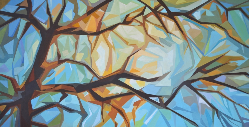 "Erica Hawkes, September, Acrylic on Canvas, 24"" x 48"""
