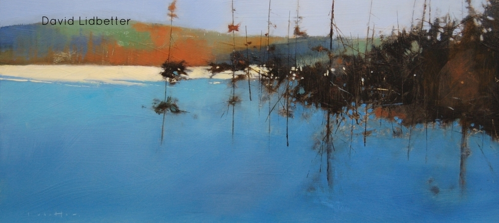 "David Lidbetter, Shade of Blue - Algonquin Park, Oil, 10"" x 22"""