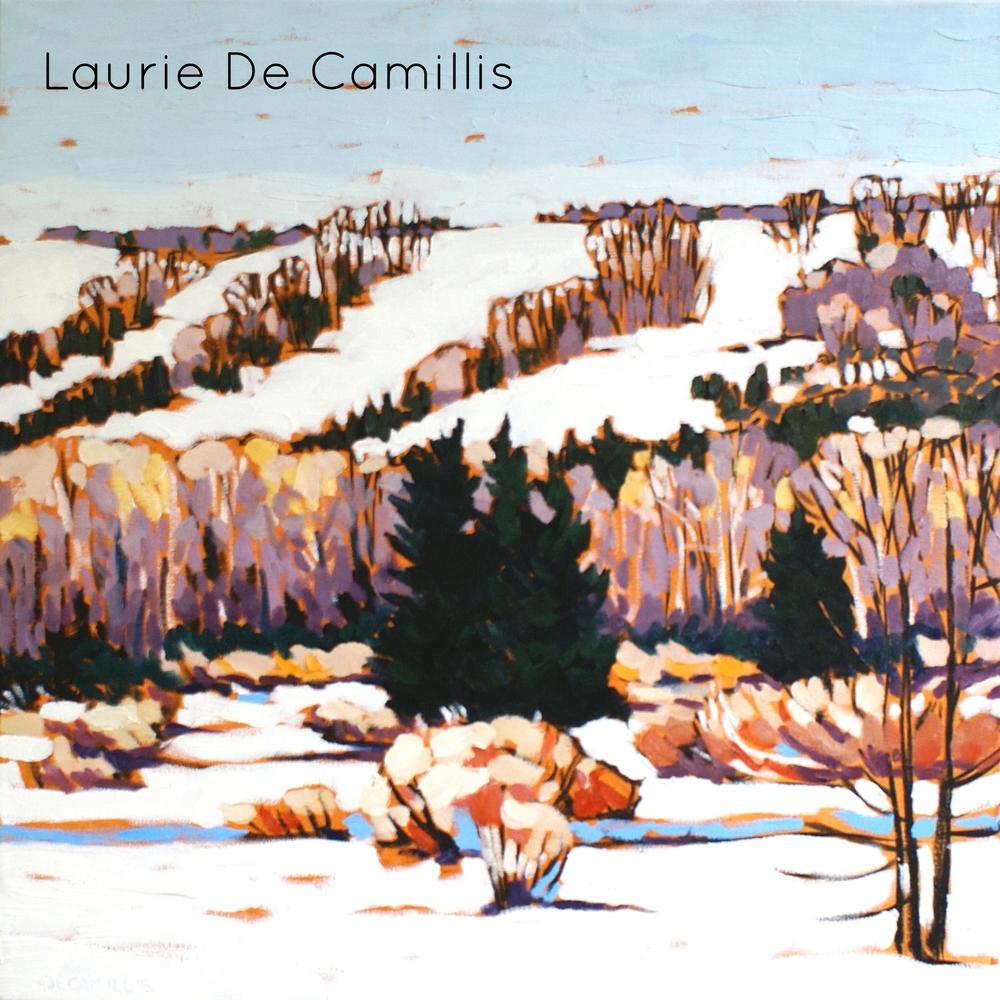 """Laurie De Camillis, Ski Hills 2, 24"""" x 24"""""""
