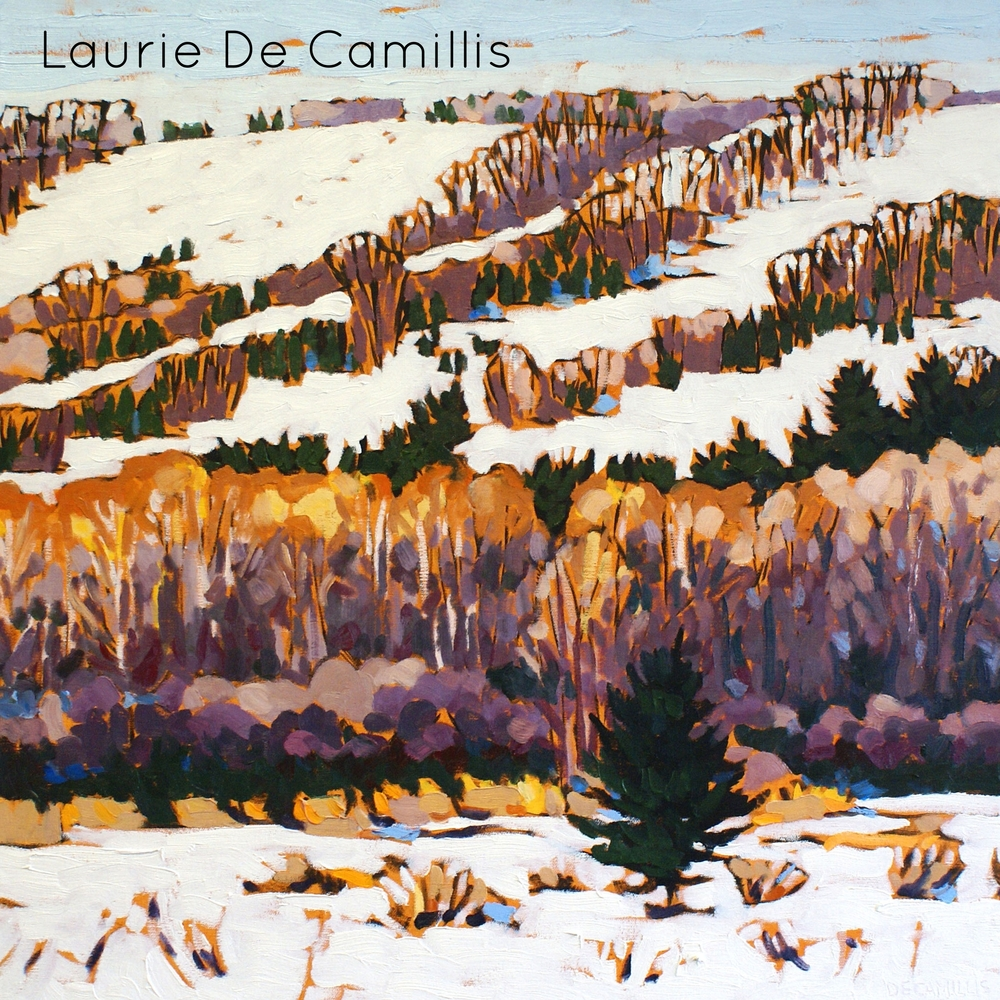 """Laurie De Camillis, Ski Hills 1, 24"""" x 24"""""""