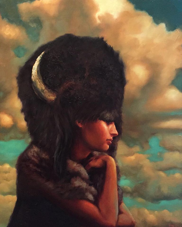 "Buffalo Bride, Oil, 30"" x 24"""