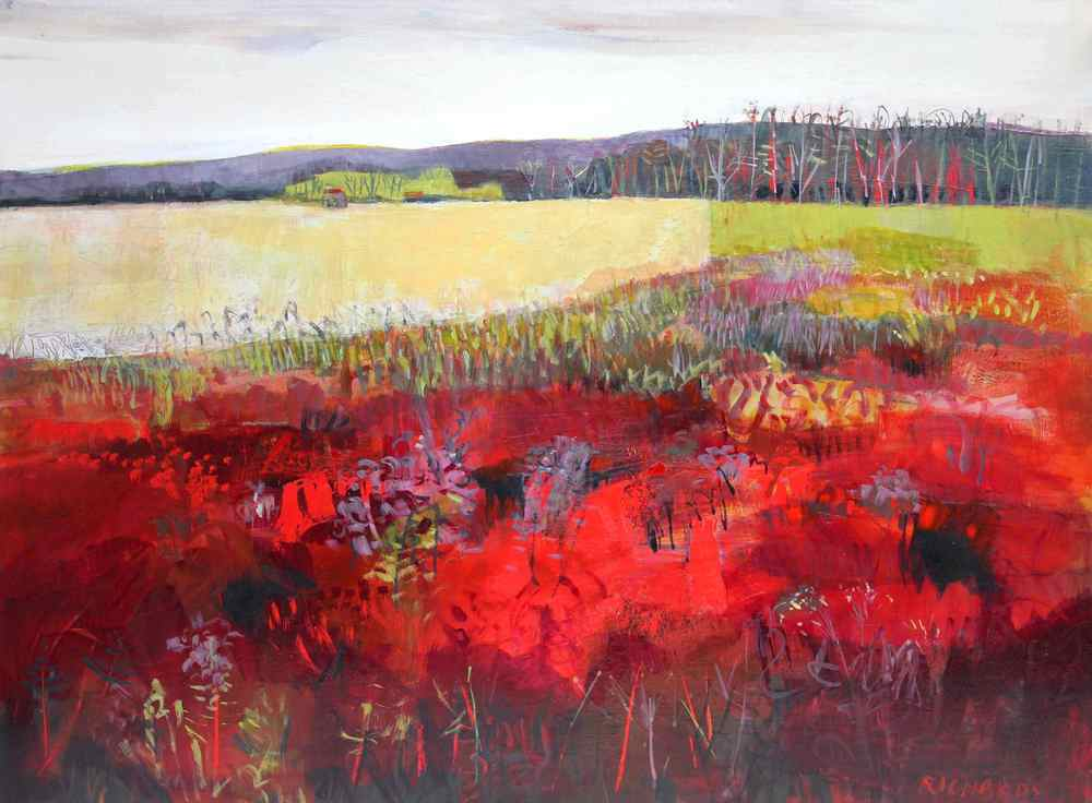 "Lori Richards, Radiant Field, Acrylic on Panel, 30""x40"""