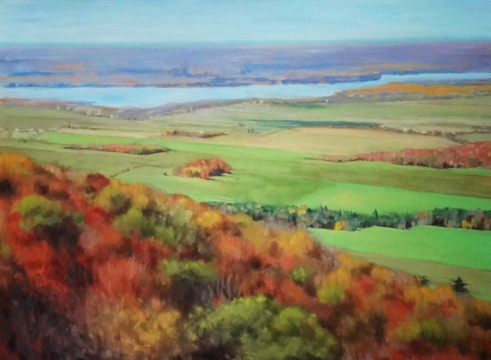 "Champlain Lookout 3, 36"" x 48"", oil"