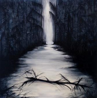 Patrice Stanley, Bayou Noir Loup Garou, Oil on Panel, 40 x 40