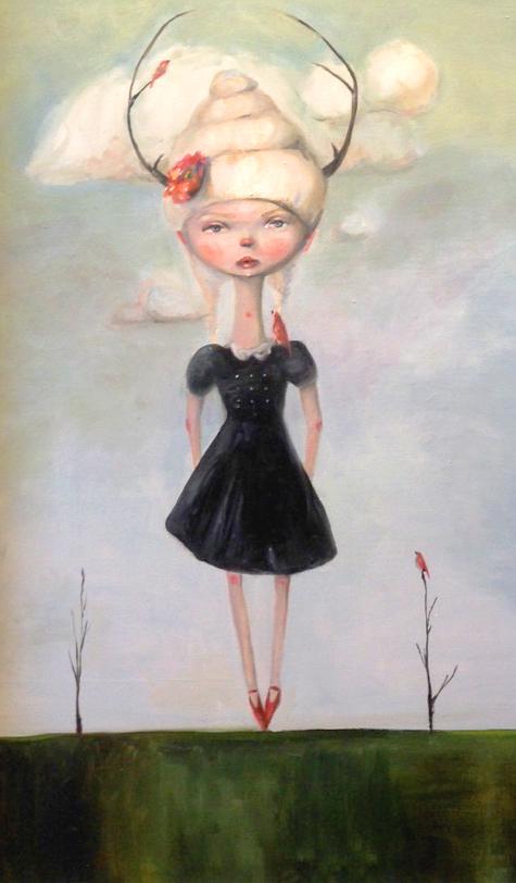 "The Bird Whisperer, Oil on Canvas, 36"" x 24"""