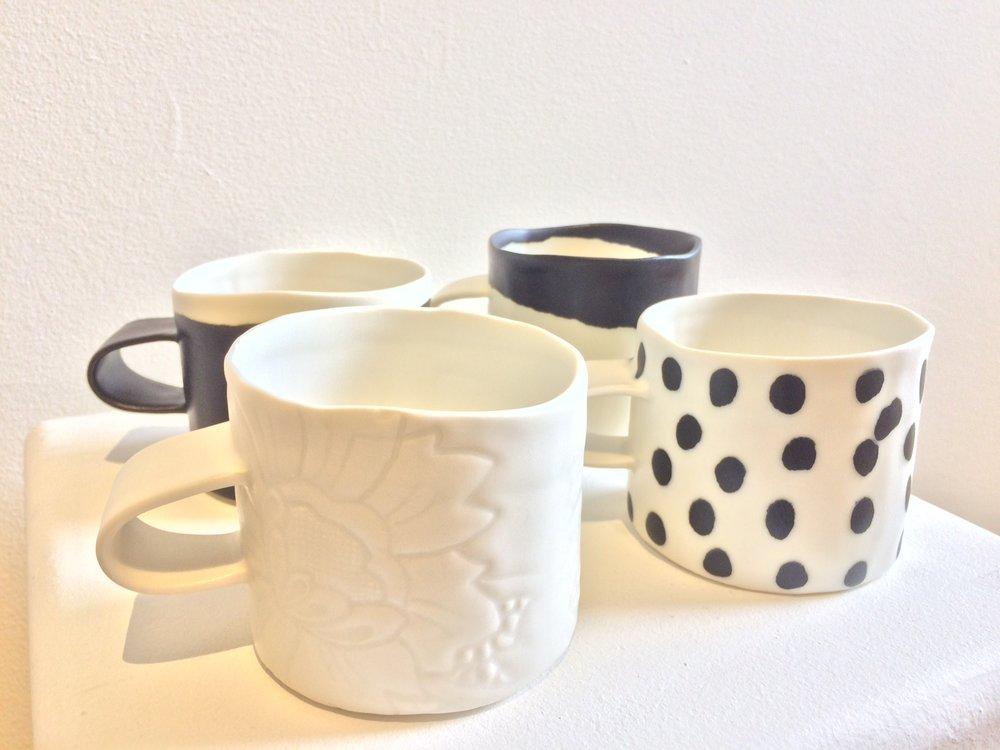 Jennifer Graham,  Porcelain Mugs