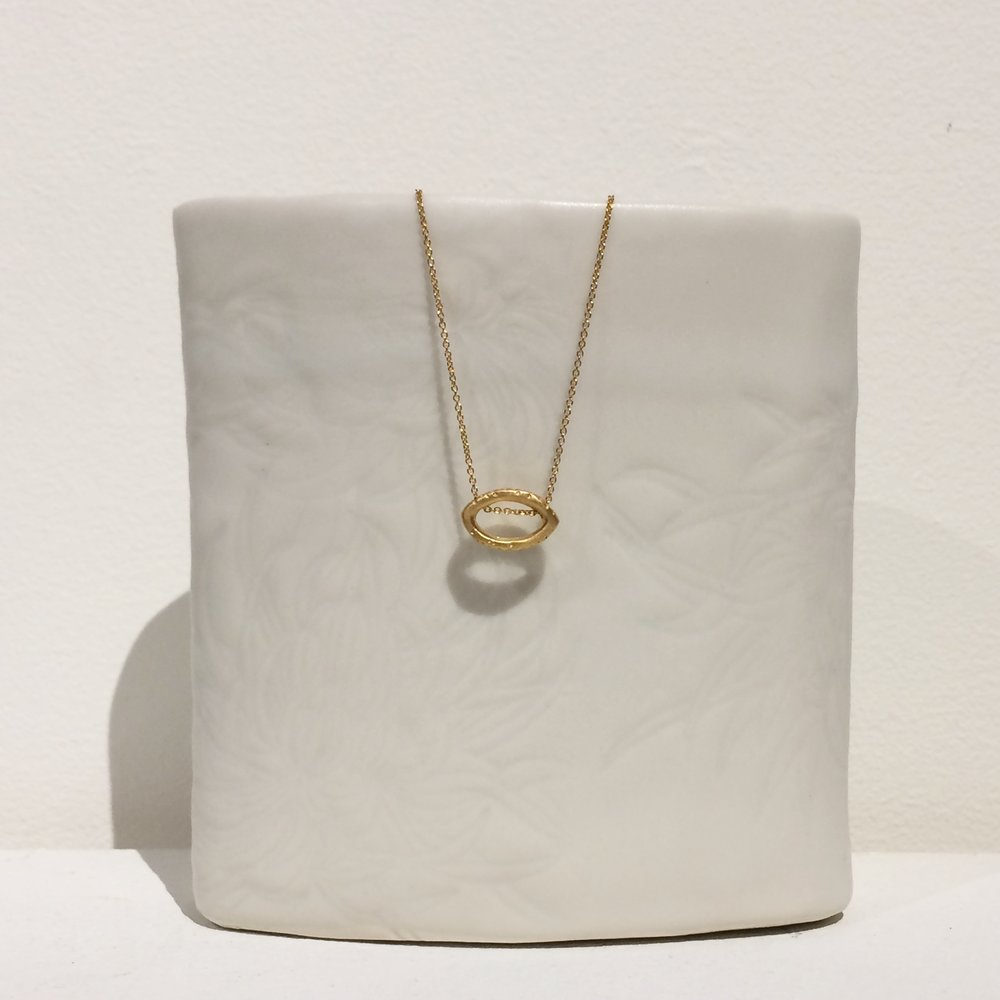 """Tangled Vines""  slider pendant necklace in 18kt gold vermeil sterling silver by Caelen Ellis of Fluid Jewellery"