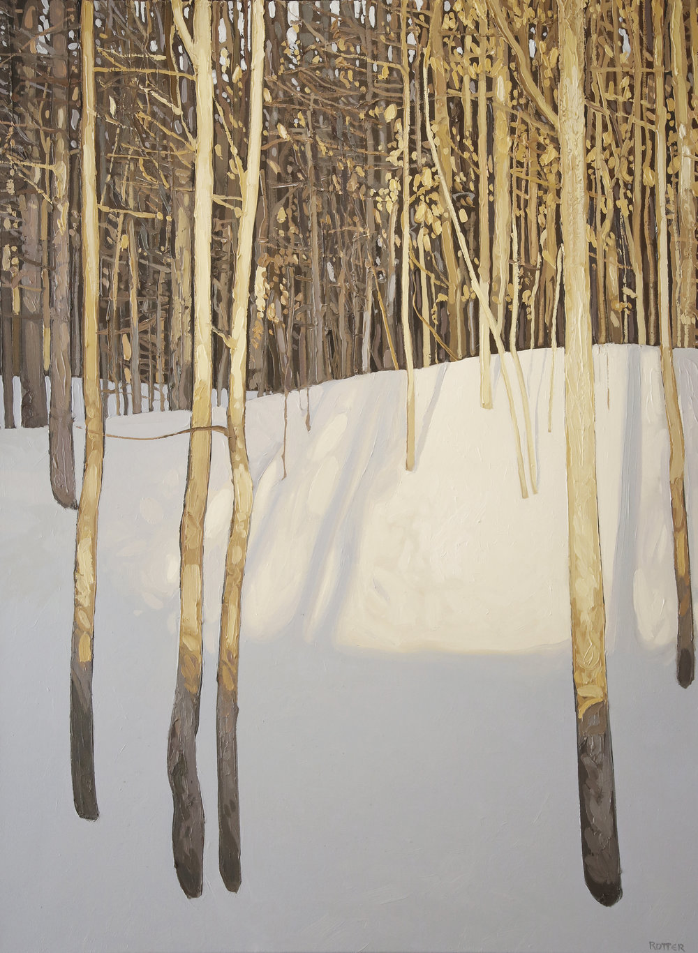 "Peter Rotter, Evening Warmth, oil on canvas, 30"" x 40"""