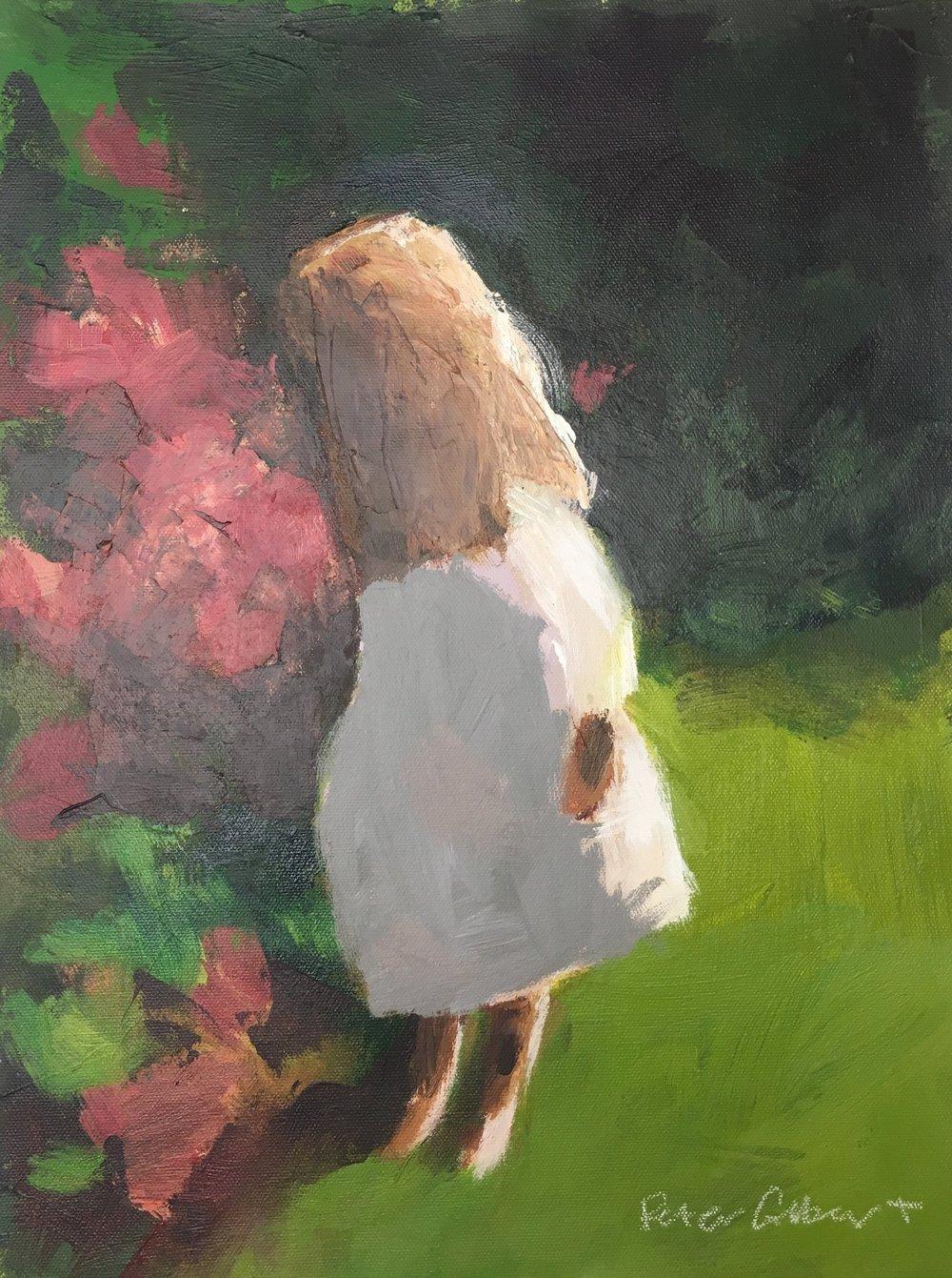 "Peter Colbert, ""My Garden"", acrylic on canvas, 12"" x 16"""