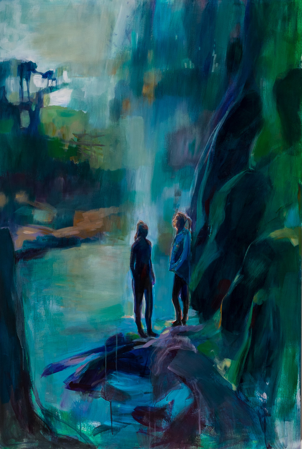 Lori Richards,  The Women,  acrylic on panel, 40 x 60 in.