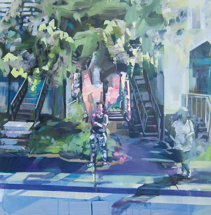 Elle Chae,  Must Be the Neighbours , 23 1/2 x 24 in.