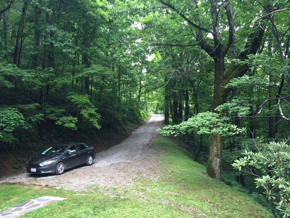 My super steep driveway