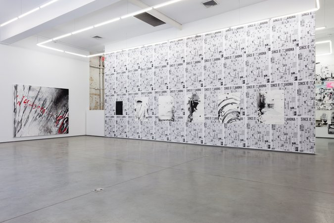 "Installation  of ""Call With Information"" exhibition, Team Gallery NY, 2015"