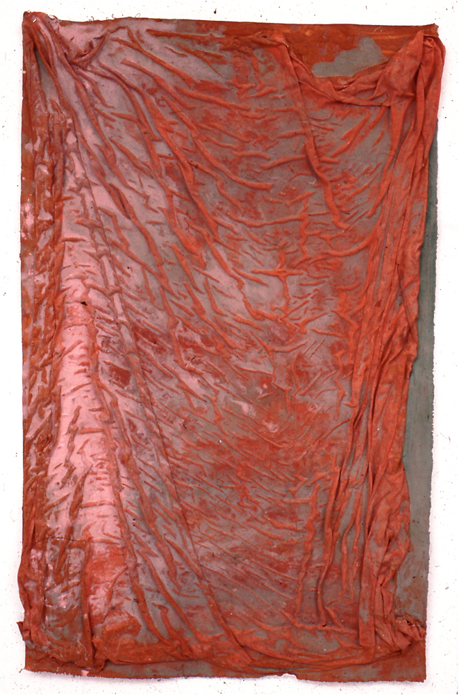drape, 1984 various fabrics and water-based pigment 96x84 inches