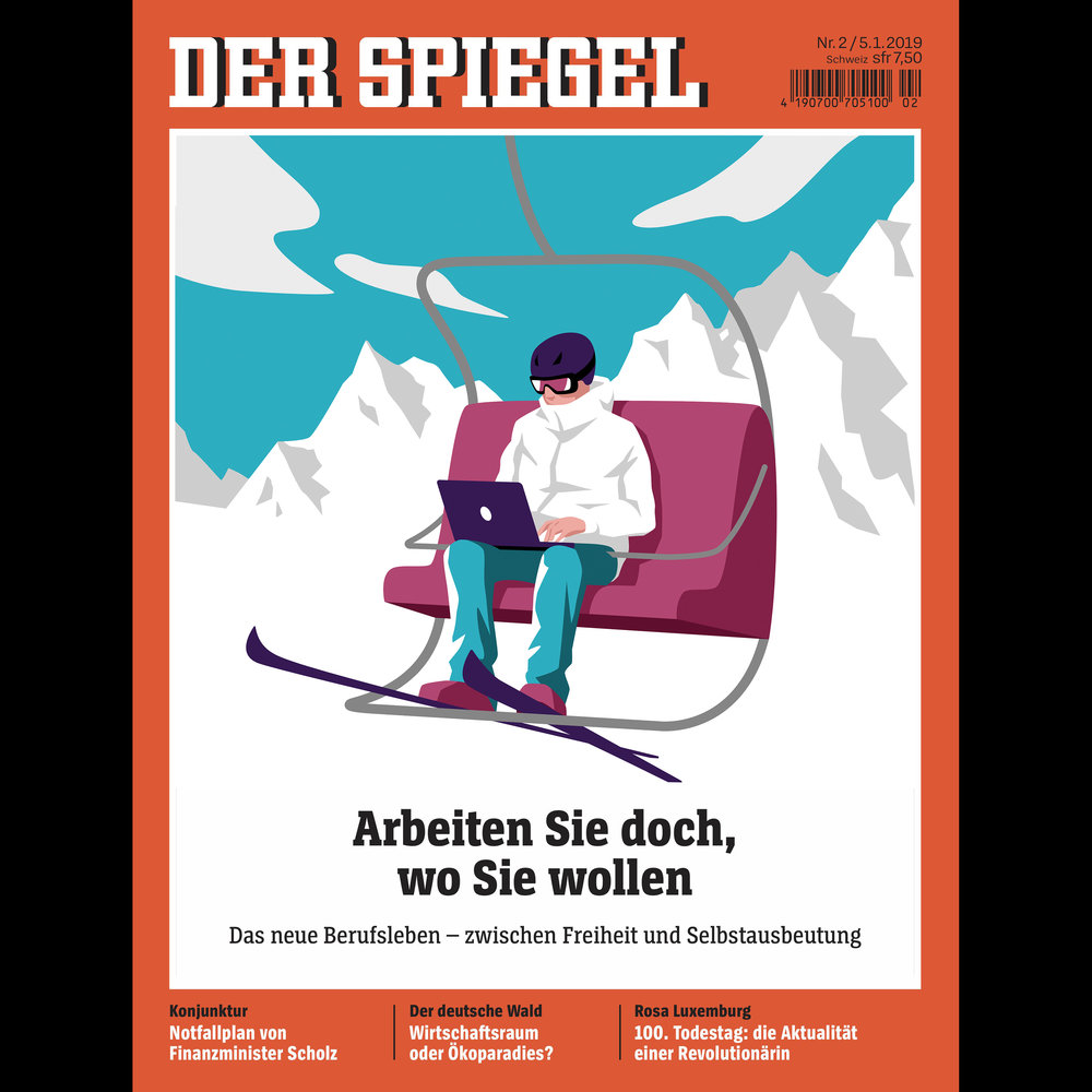 """""""Work from where ever you want"""" for DER SPIEGEL"""