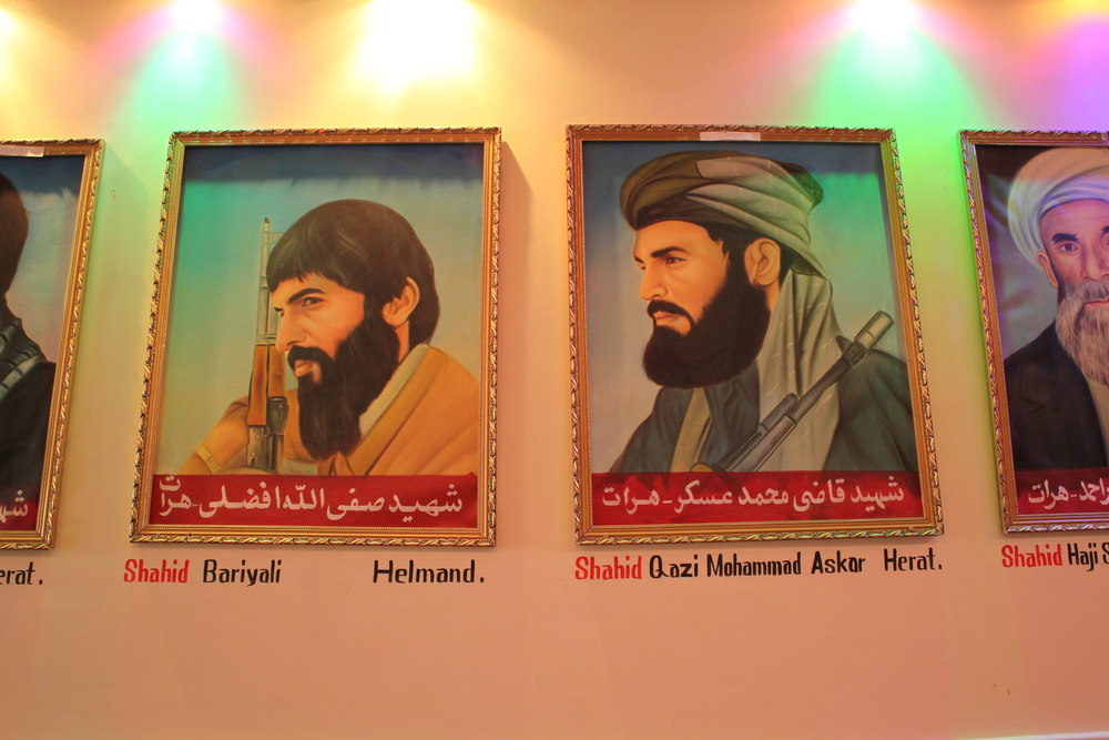 The Jihad Museum is a private museum in the capital city of Herat province. Built by a tribal leader of Herat, the museum grounds are home to a display of military weaponry ranging from the British through the Soviet occupations of Afghanistan. The interior of the museum houses a permanent installation comprised of portraits of martyrs flanking a hallway that leads into a cylindrical structure. Within this structure one can revisit the invasion through a panoramic painting and attendant terra cotta sculptures commemorating the day the communist forces invaded the city.