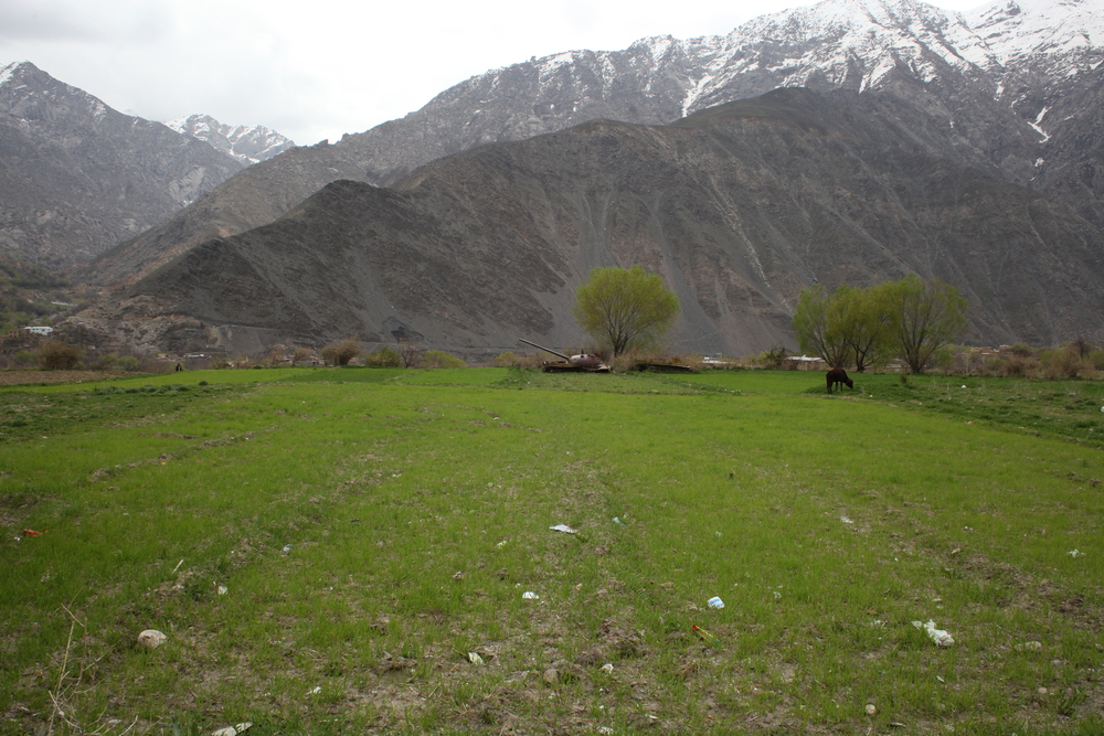 The Panjshir Valley is 150km north of Kabul in Panjshir Provence. The terrain is so rugged that armies from the British to the Soviets suffered heavy casualties when trying to engage various factions and iterations of Afghan fighters. Most recently, the Taliban was defeated by the Northern Alliance in the civil war (1996-2001). Heavy engagement in active battle for the last 20 years has left the Panjshir valley littered with tanks, truck parts, and other military machinery that is too costly to remove from this lush landscape.