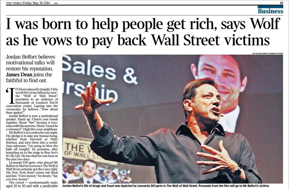 Jordan Belfort The Times