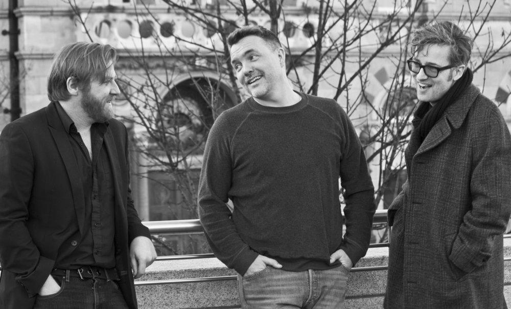 Rory Gleeson, Ciarán McMenamin & Karl Geary
