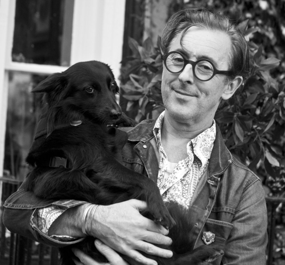 Alan Cumming & his dog, Lala