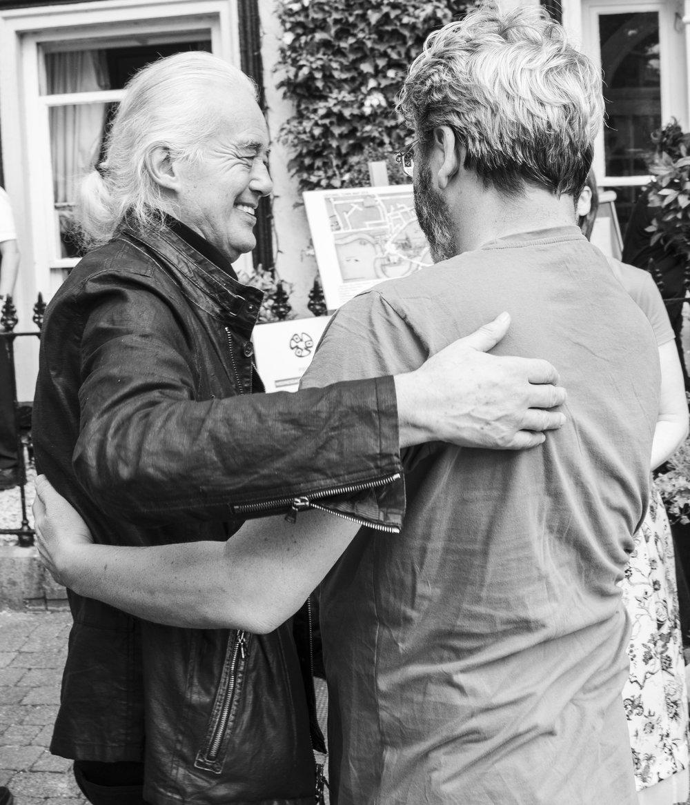 Jimmy Page & Fergal Keane