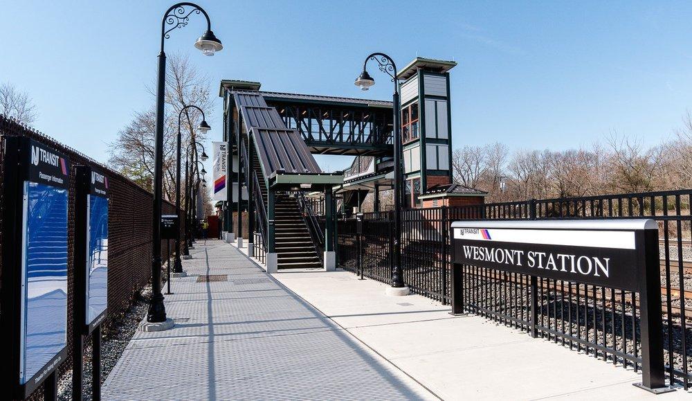 New NJ Transit train stop at Wesmont Station located in Woodridge, NJ