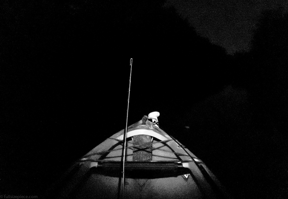 A river fishing excursion goes long. Thankful the headlamps made it on the boat this trip.