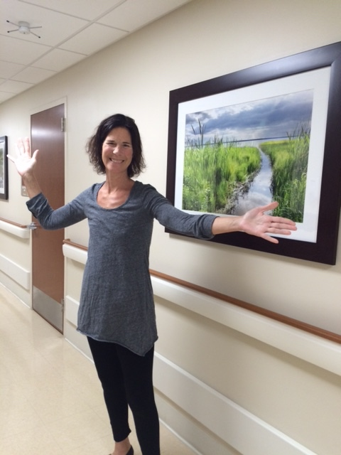 Sara being discharged from Jackson Memorial Hospital, 11/21/14 - Cancer free!