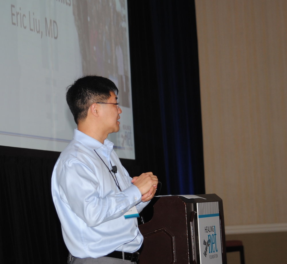 Dr. Eric Liu, Healing NET Chief Medical Advisor, opens the General Session