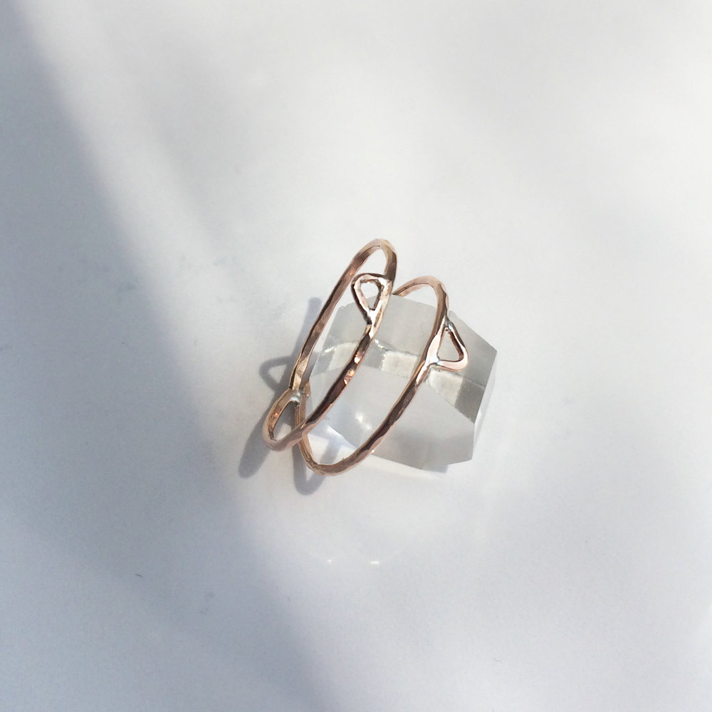 Temple Ring Available: Rose Gold Fill, Sterling Silver