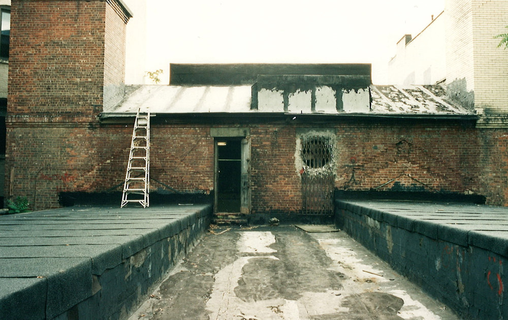 Roofdeck prior to renovation