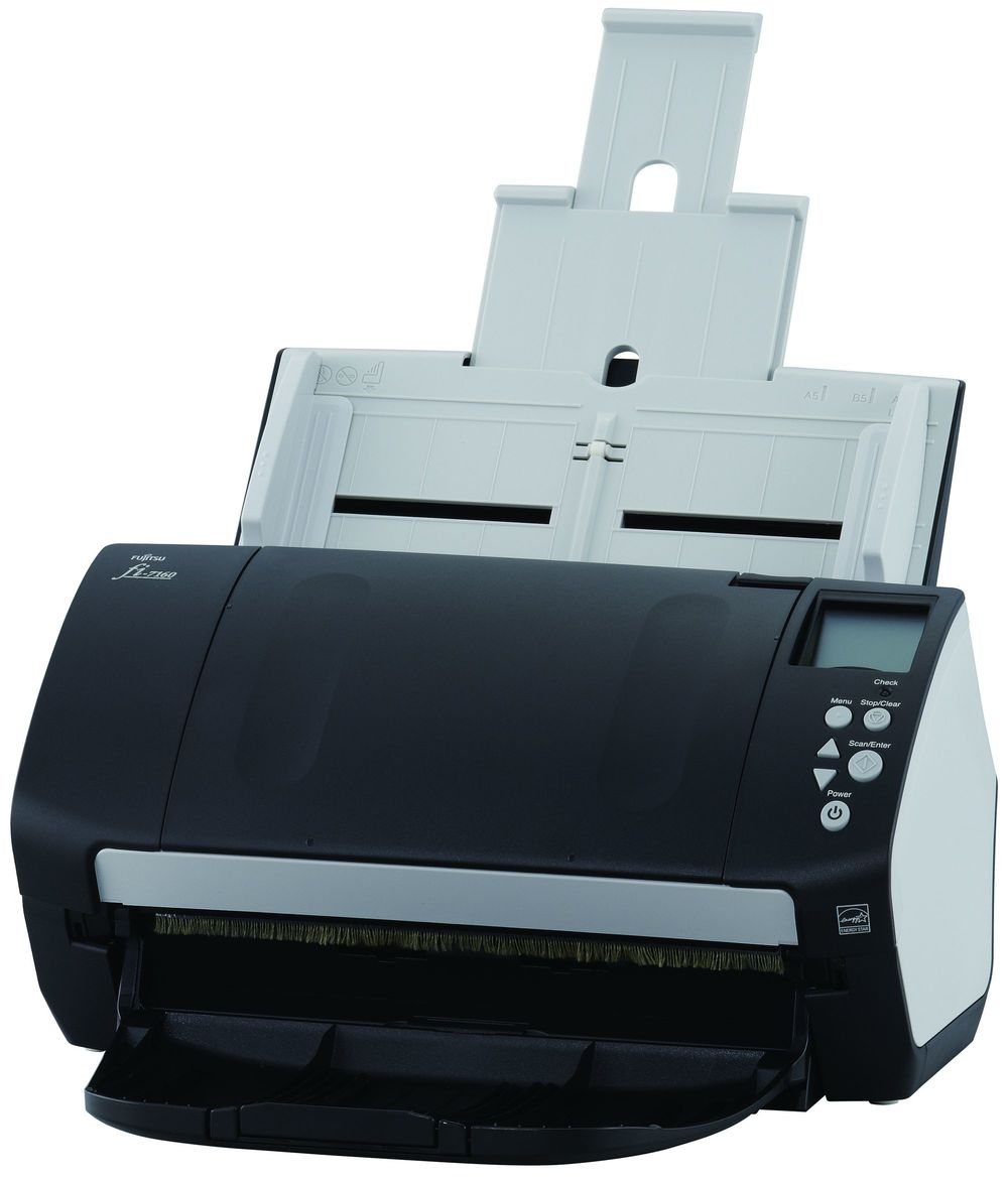 Fujitsu fi-7160 Up to 600 dpi 60 ppm / 120 ipm @ 300 dpi Dual CCD Sensors Up-to-80-Sheet Automatic Document Feeder PC USB 3.0 TWAIN / ISIS