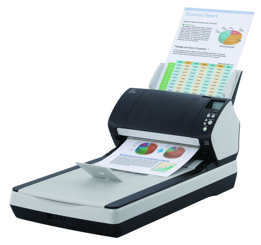 Fujitsu fi-7260 Up to 600 dpi 60 ppm / 120 ipm @ 300dpi Triple CCD Sensor Up-to-80-Sheet Automatic Document Feeder Flatbed Option PC USB 3.0 TWAIN / ISIS