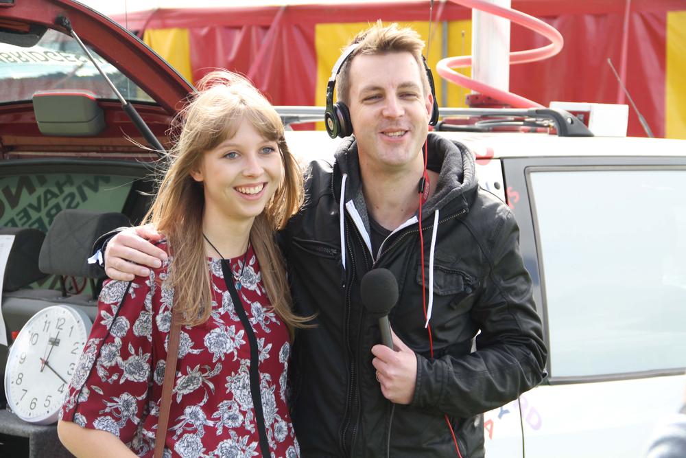 Rachel Clark - BBC Radio Cambridgeshire - Nick Carter - LodeStar 2014.JPG