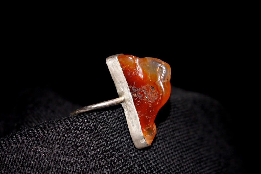 Carnelian and Sterling Silver. 2013