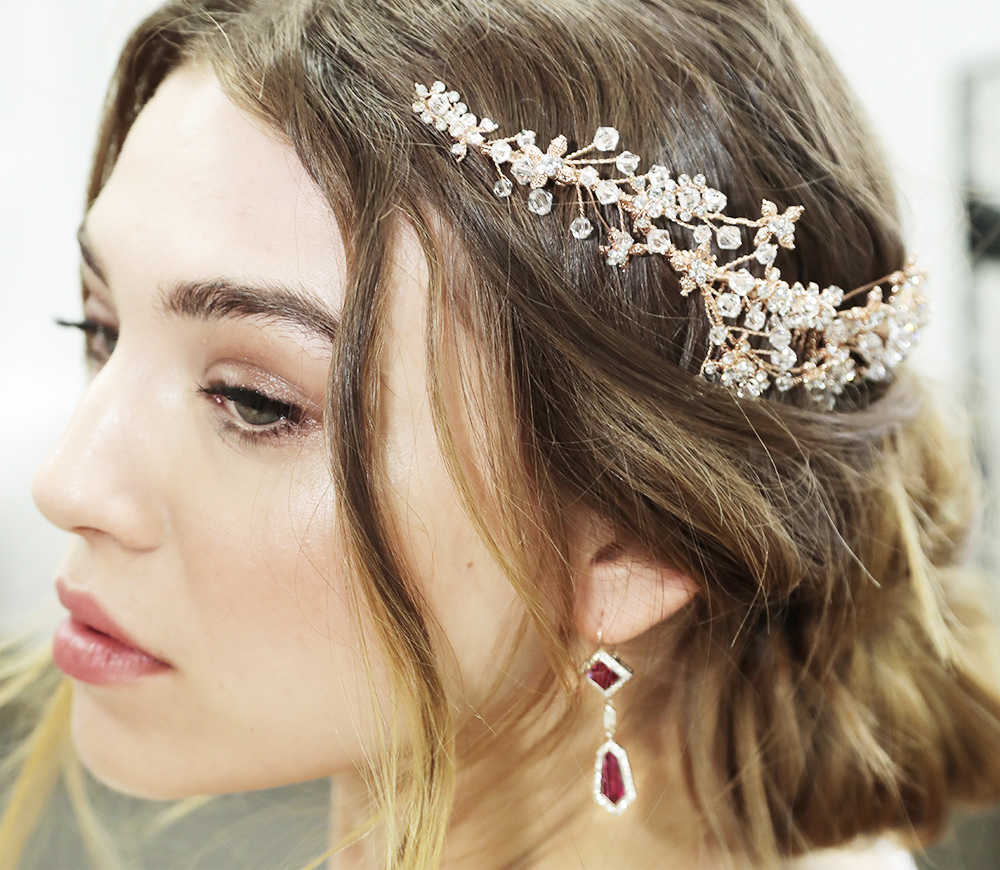 Rubellite Tourmaline and Diamond earrings,  $18,700