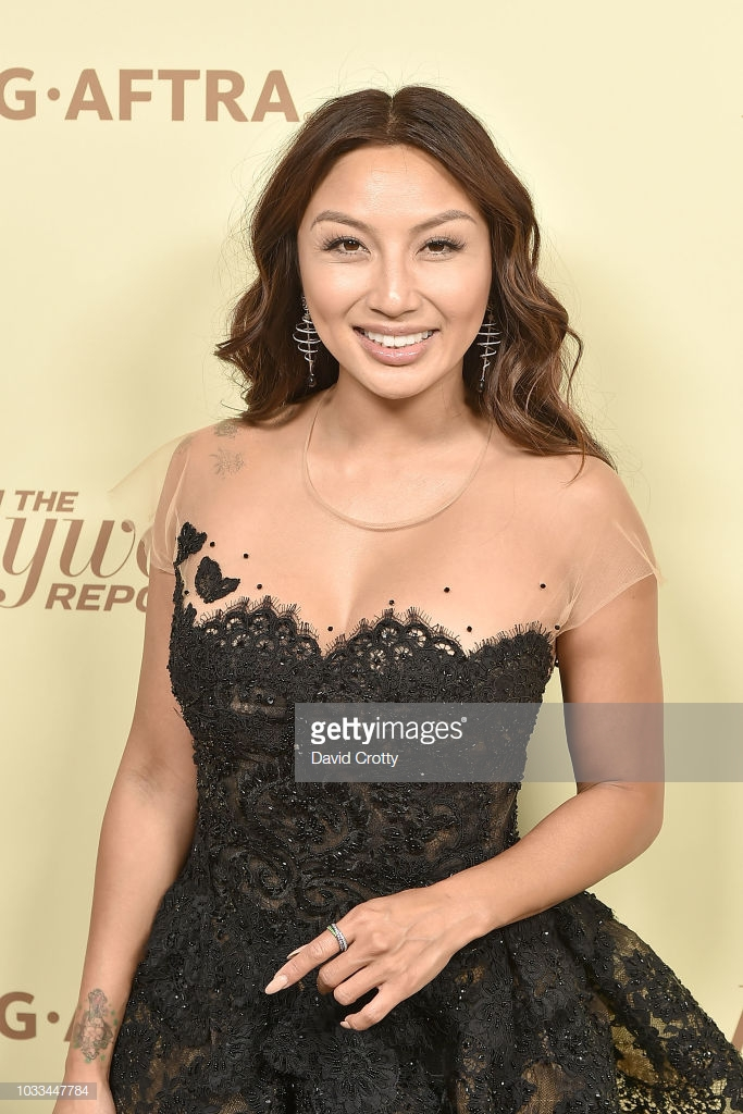 Jeannie Mai wearing Ricardo Basta Fine Jewelry