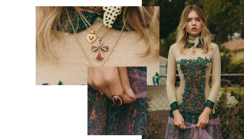 Ricardo Basta Fine Jewelry for Schon Magazine pink tourmaline cross necklace and pink tourmaline cocktail ring
