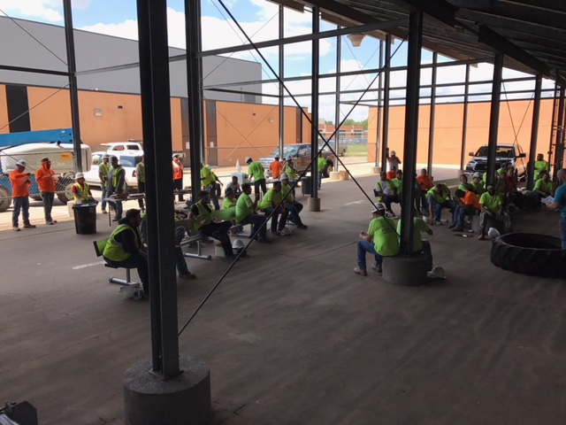 CMSW participated in a voluntary jobsite shut down for a professional safety demonstration during OSHA's Stand Down for Safety week.