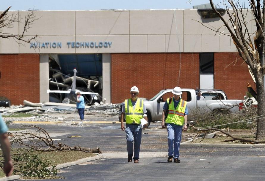 Cary and the engineer at damaged CVTC El Reno  copy.jpg