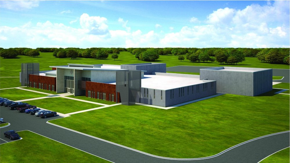 Architectural rendering of the future Ardmore Readiness Center.