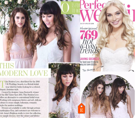 Featured in Perfect Wedding Magazine as The One to Watch, A-Z of what's hot in 2016