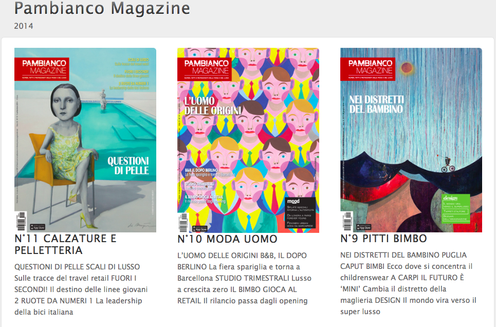 Pambianco 2014 covers