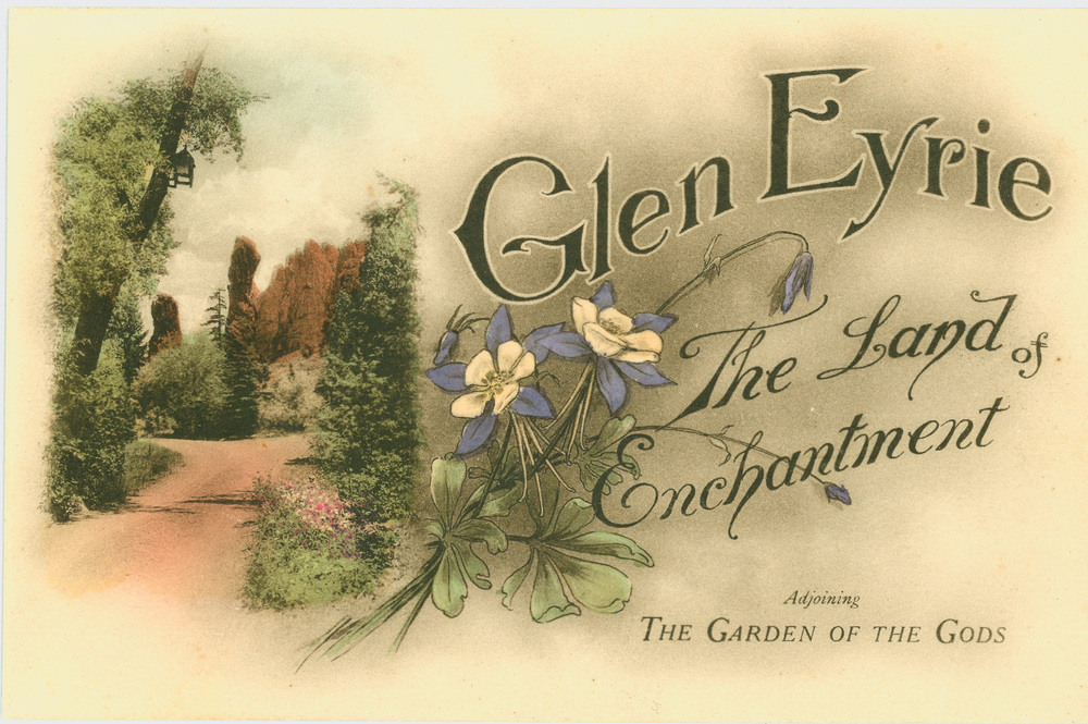 "Tourists could purchase day passes to visit Glen Eyrie, which was known as the ""Land of Enchantment"""
