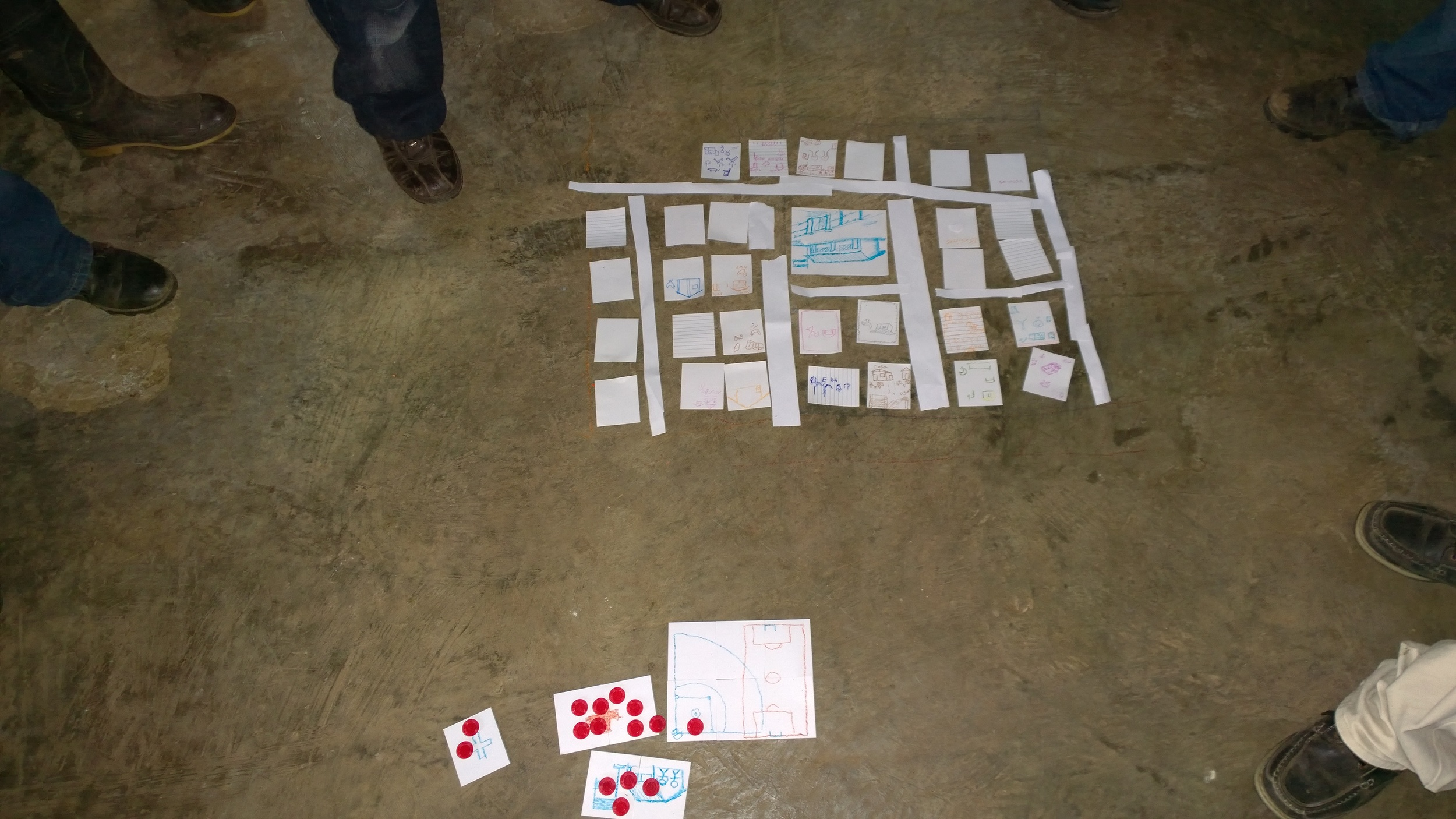 Village layout exercise with community voting